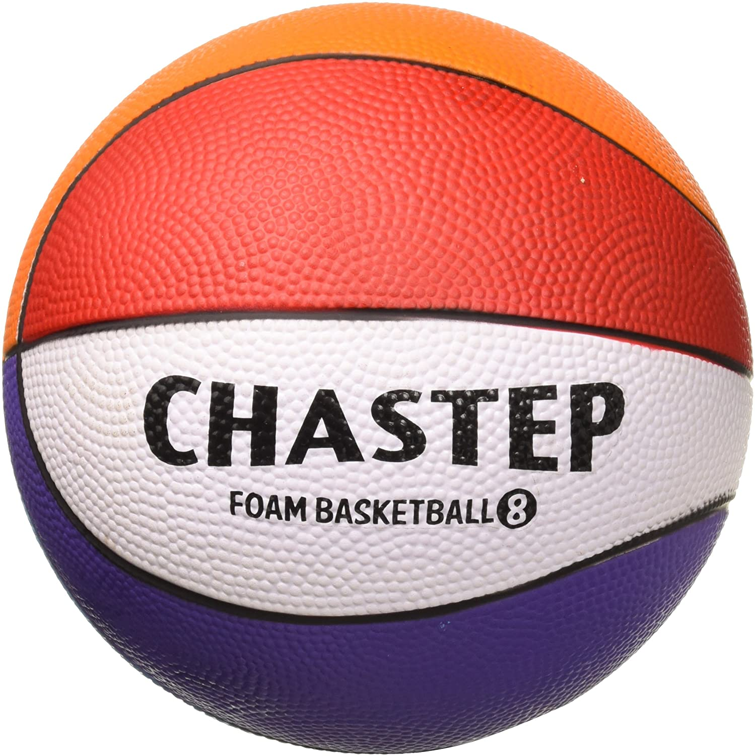 Chastep 8 Inch Foam Sports Ball, Rainbow Basketball, Safe & Soft Kick - Good Gift for Kids