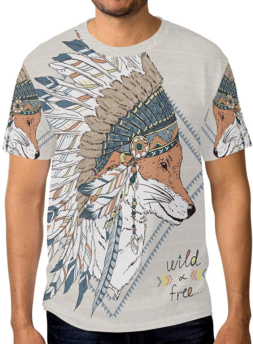 Plain Crew Neck T-Shirt Hippie Color Vintage Camping Car Peace Love