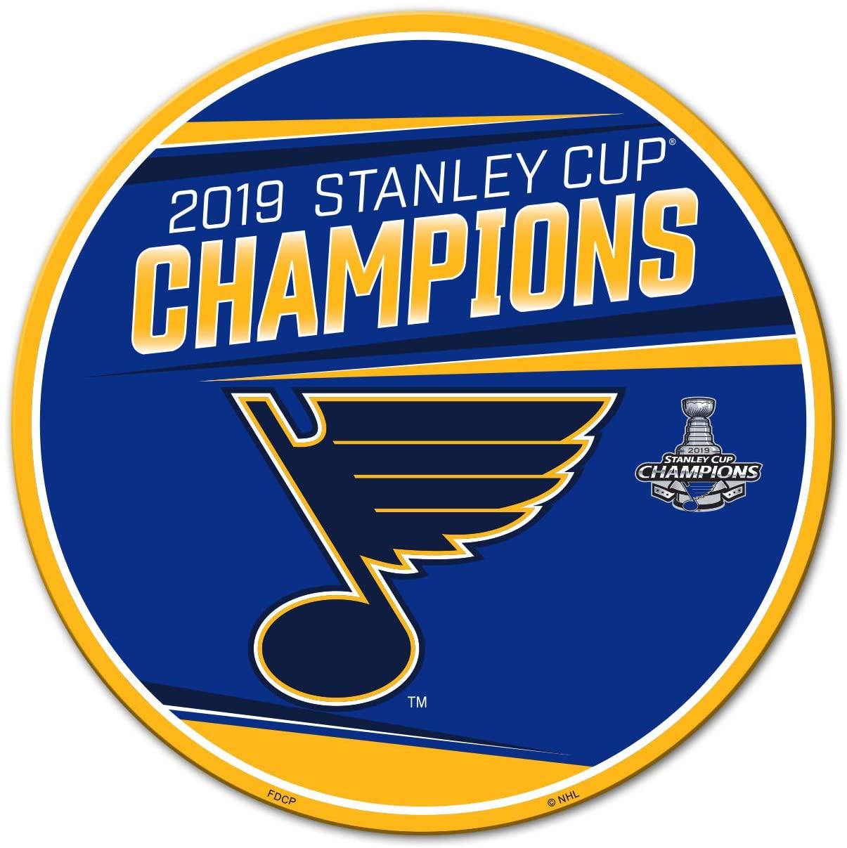 Fremont Die NHL St. Louis Blues Unisex NHL St. Louis Blues 2019 Stanley Cup Champions 12-Inch MagnetNHL St. Louis Blues 2019 Stanley Cup Champions 12-Inch Magnet, Team Colors, 12