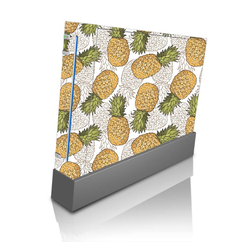 Pineapple Pattern Vinyl Decal Sticker Skin by egeek amz for Wii Console