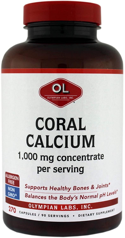 Olympian Labs Coral Calcium, 1g Per Serving, 1000 mg, 270 Capsules