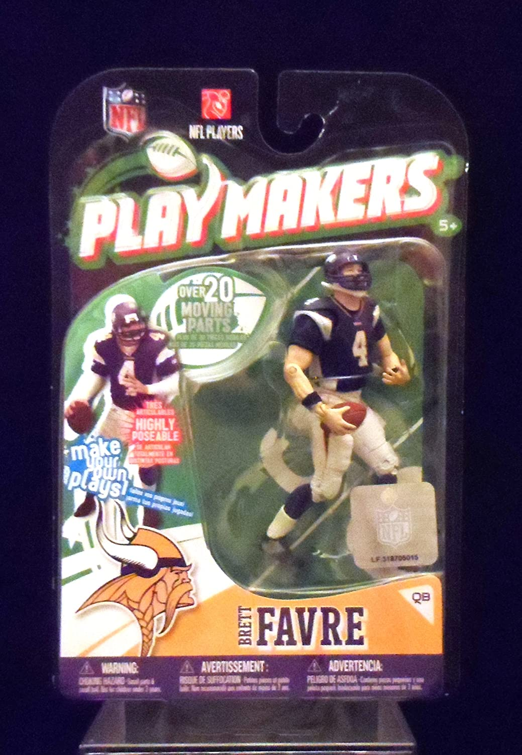 NFL McFarlane Toys Playmakers Series 1 Action Figure Brett Favre (Minnesota Vikings)