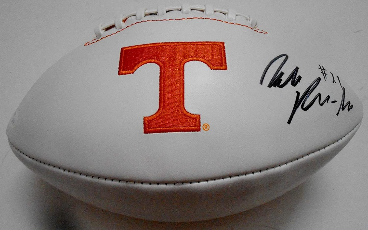 Jalen Reeves-Maybin Signed Tennessee Volunteers Logo Football w COA SD21042 - JSA Certified - Autographed College Footballs