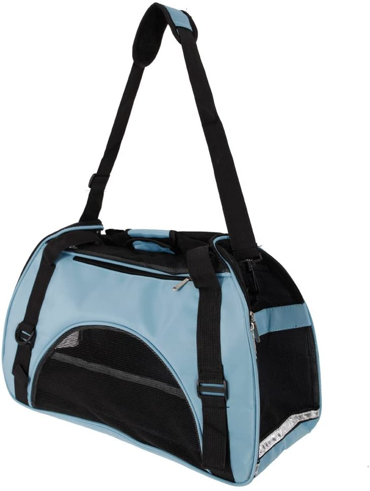 Goobest Portable Pet Carrier Airline Approved Pet Handbag Under Soft Sided Travel Bag for Cats Dogs and Small Medium Animals,Breathable Hollow-Out Soft Wide Cat Carriers Walking,Shopping with Kitten