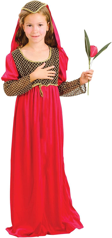Bristol Novelty Juliet Costume (L) Child Girl Age 7 - 9 Years