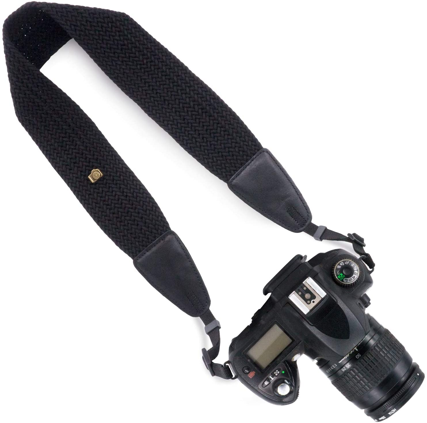 Wolven Weave DSLR/SLR Camera Neck Shoulder Belt Strap Compatible with All DSLR/SLR/Digital Camera (DC)/Instant Camera/Polaroid etc,Black