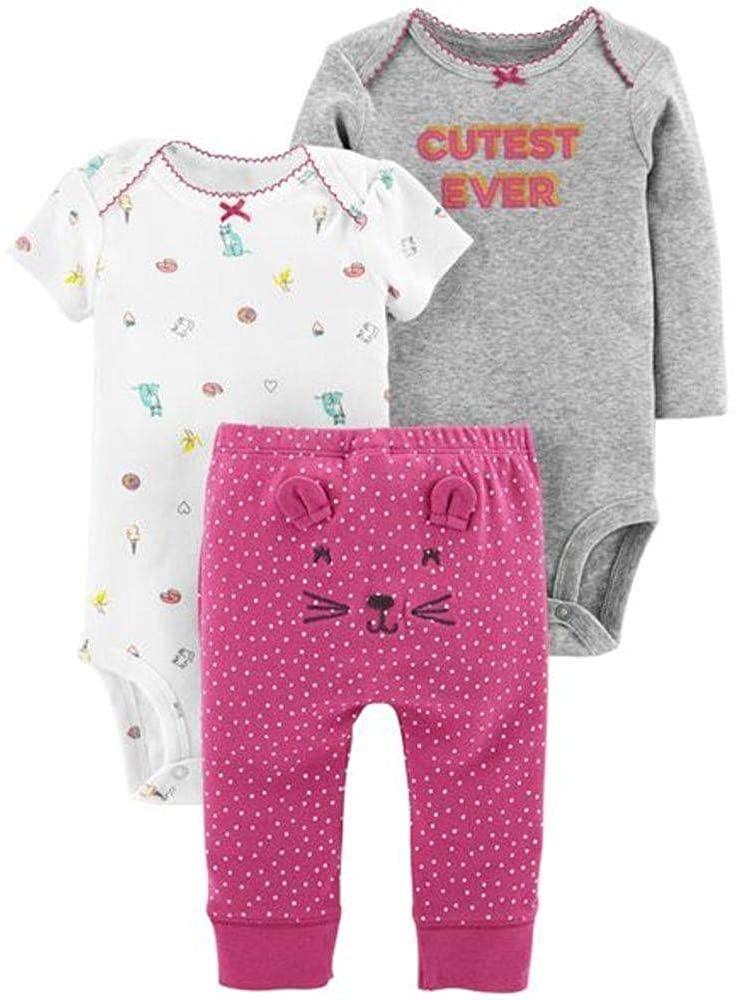 Carter's Baby Girls' 3-Piece Little Character Set - Pink