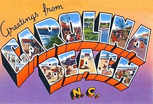 Greetings From Carolina Beach, North Carolina - 1930's - Vintage Postcard Magnet
