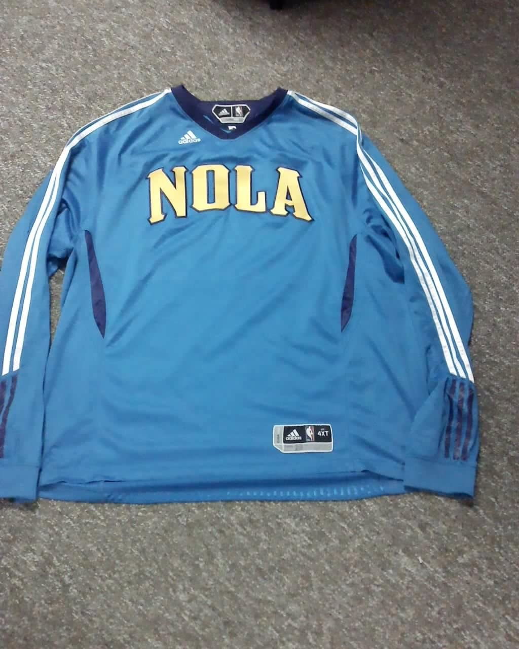 Didier Ilunga -Mbenga New Orleans Hornets 2010-2011 Game Worn Adidas Shooting Shirt