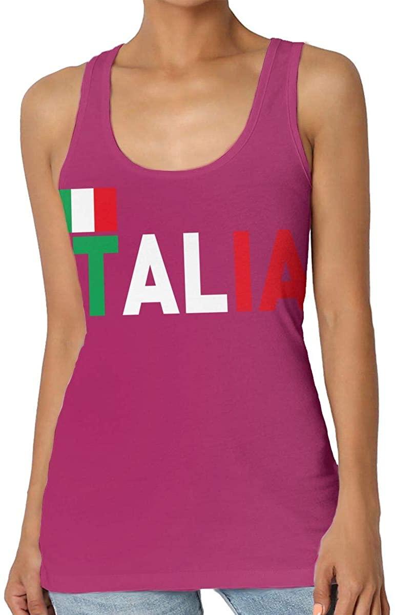 Yongchuang Feng Italian Flag Women's Tank Top T-Shirt Cool Sleeveless Vest