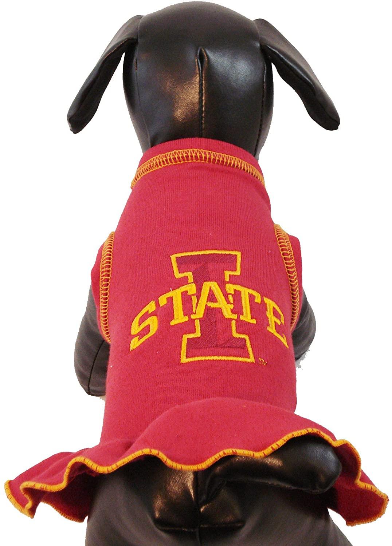 NCAA Iowa State Cyclones Cheerleader Dog Dress (Team Color, X-Small)