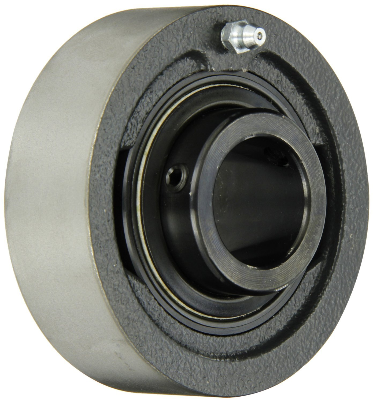Sealmaster MSC-31C Ball Bearing Cartridge Unit, Medium Duty, Setscrew Locking Collar, Contact Seals, Cast Iron Housing, Inch, 1-15/16