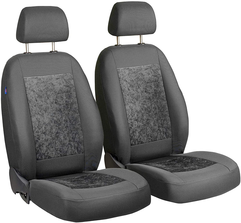 Zakschneider Car seat Covers for Berlingo - Front Seats - Color Premium Gray Velours