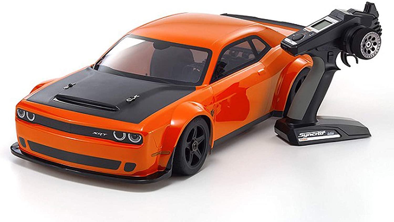 Kyosho 34107 - Inferno GT2 VE EP 1/8 Dodge Challenger SRT Demon RTR, Go Mango