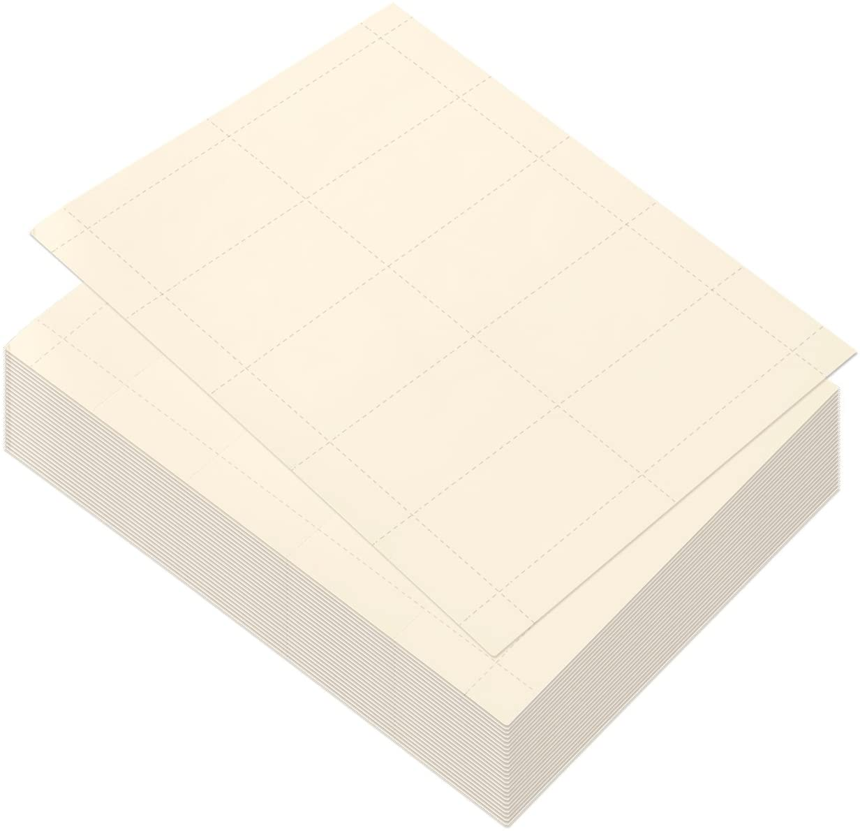 Business Card Paper, Ivory Cardstock for Inkjet and Laser Printers (Ivory, 3.5 x 1.9 In, 100 Sheets)