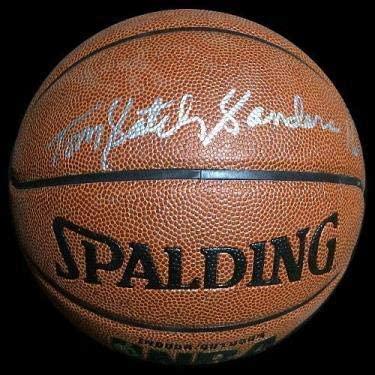 Satch Sanders Autographed Spalding Basketball - Autographed Basketballs