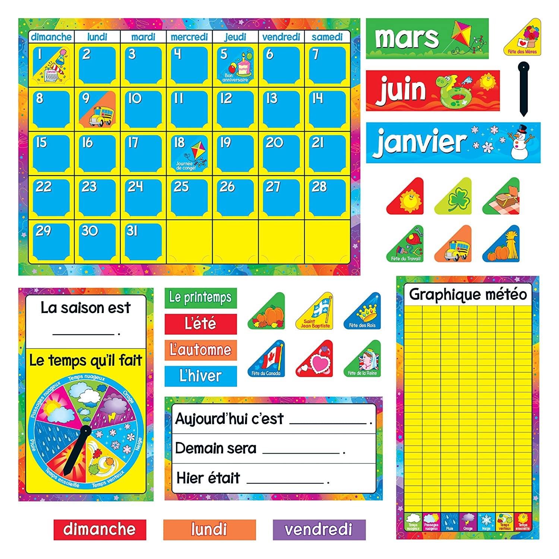 TREND Enterprises, Inc. T-8292 Calendrier Annuel (French) Bulletin Board Set