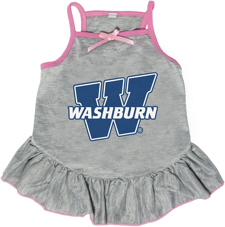 Littlearth NCAA Washburn Ichabods Pet Dress, Extra Small