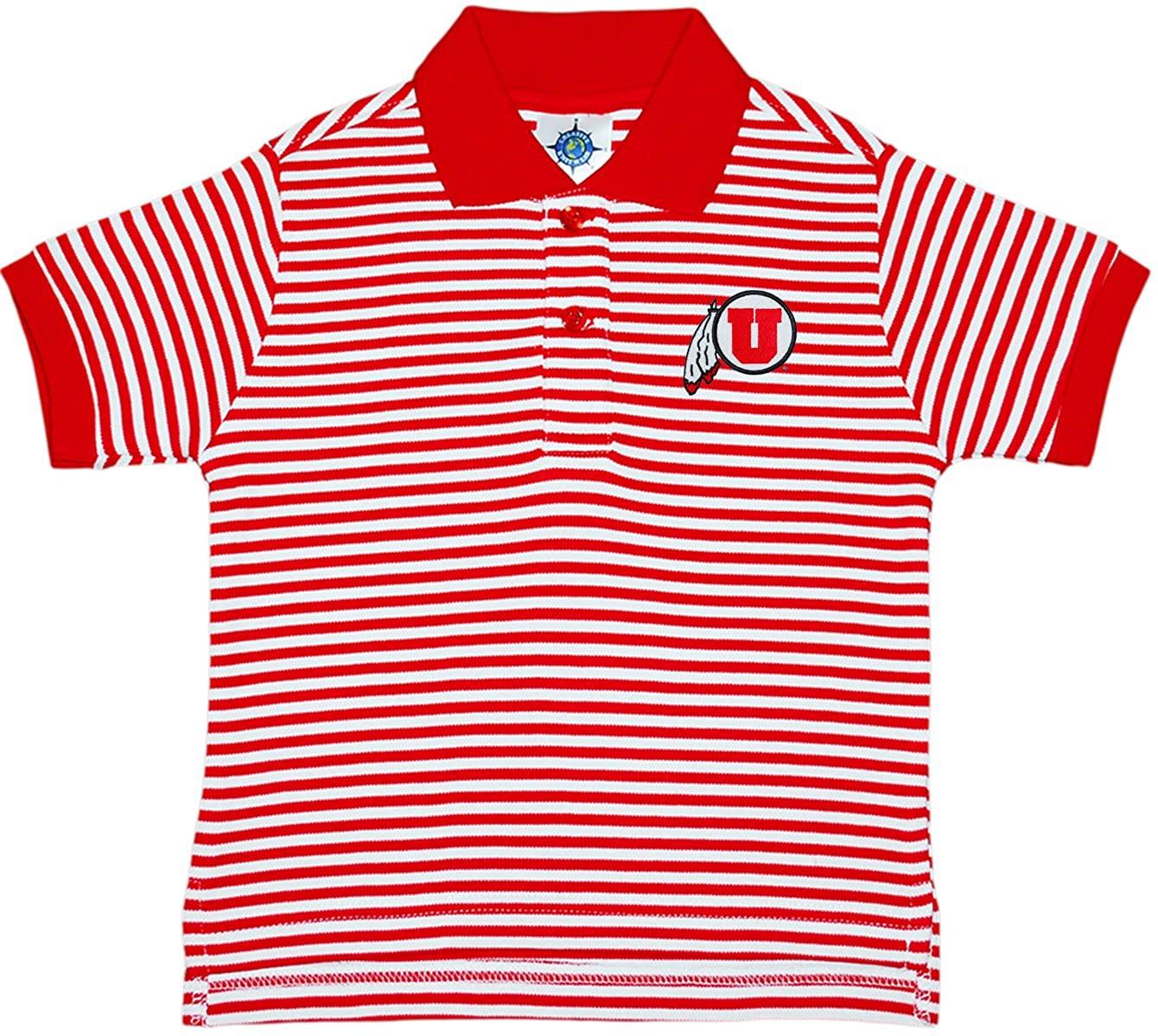 Creative Knitwear University of Utah Utes Striped Polo Shirt