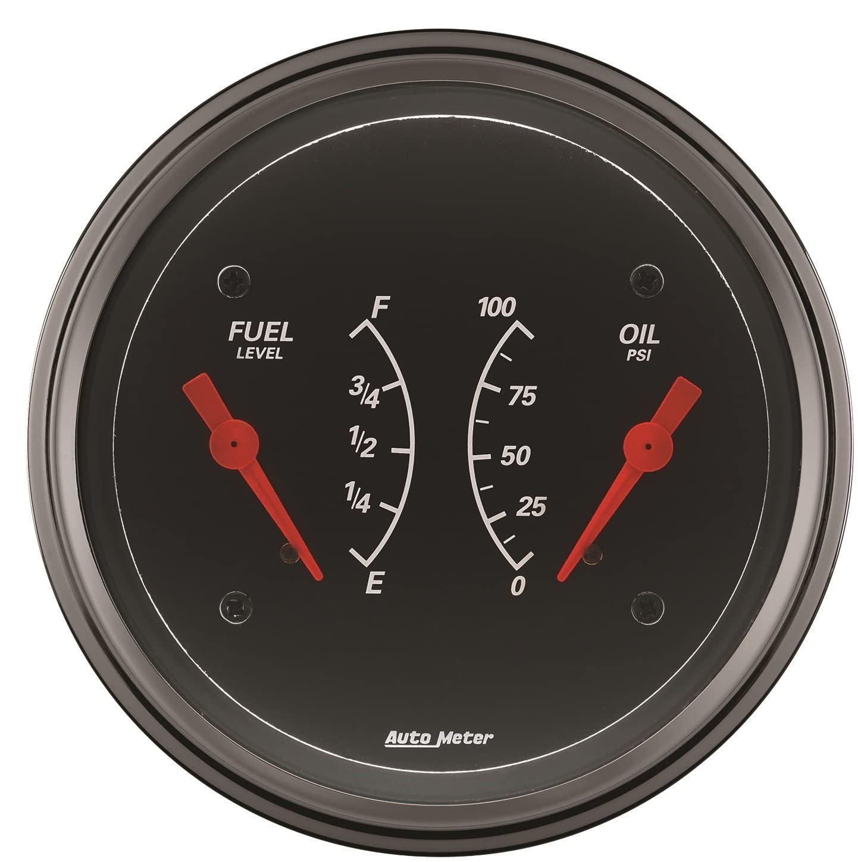 AUTO METER 1434 Designer Black Oil/Fuel Dual Gauge