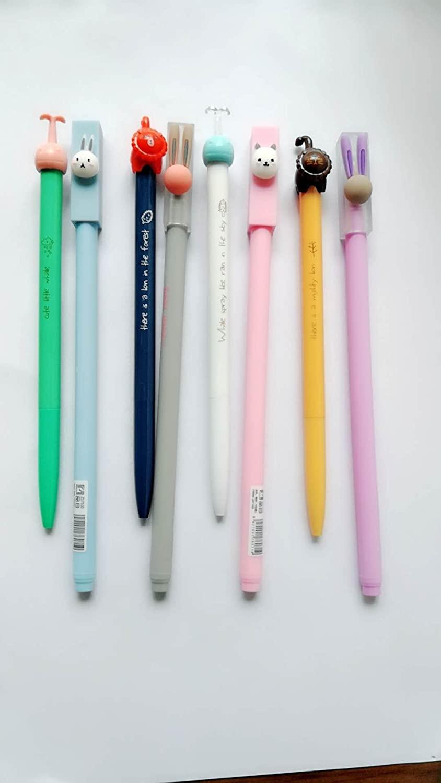 8 Pack Gel Ink Pen for Office School Student,0.5 mm Black Ink