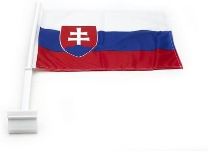 Slovenia Country Flag Heavy Duty Car Stick Flag 12