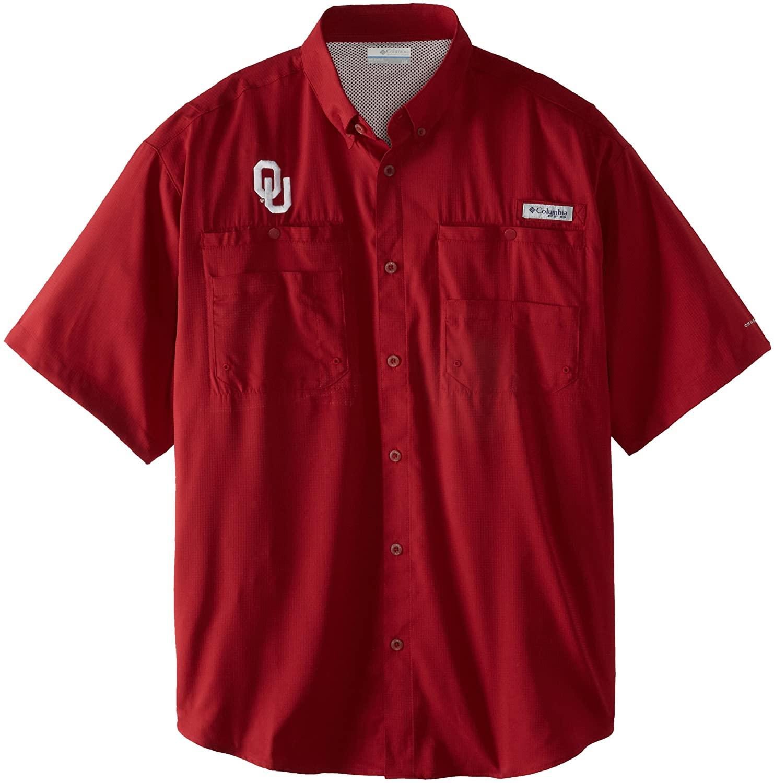 NCAA Oklahoma Sooners Men's Collegiate Tamiami Shirt, Beet, Small