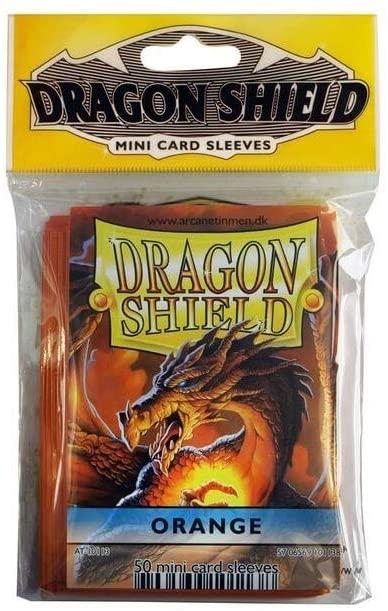 Arcane Tinman Sleeves: Mini Dragon Shield (10) Orange AT-10113-R
