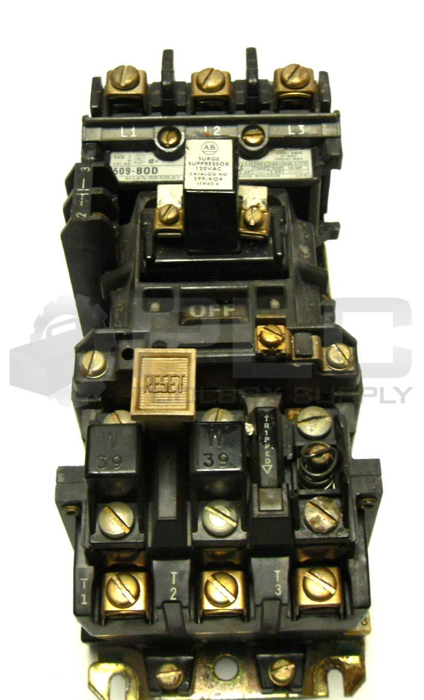 Allen-Bradley 509-B0D Starter 27A 120V T15921