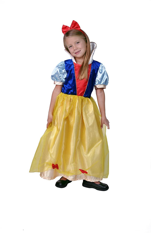 Making Believe Girls Yellow/Blue Snow Princess Dress Size 6/8