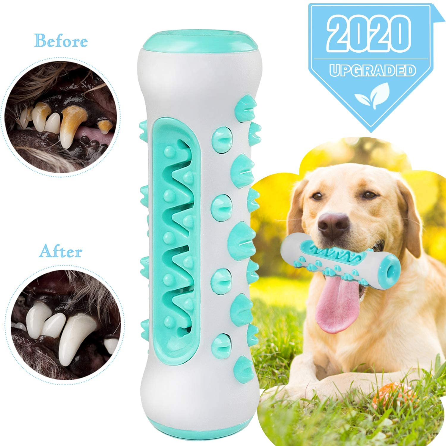 Dog Chew Toy for Aggressive Chewer, Upgrade Dog Brushing Stick for Dog Teeth Cleaning, Safe Soft Bite-Resistant Brushing Dental Care Teeth Cleaning Stick Toy for All Breed of Dogs (Fit 25-70 lbs)
