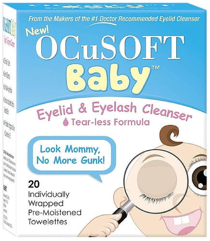 OCuSOFT Baby Eyelid & Eyelash Cleanser Towelettes 20 ea (Pack of 4)