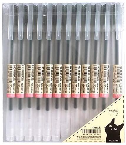 xsg gel ink pens 12count black, quick drying, no bleeding