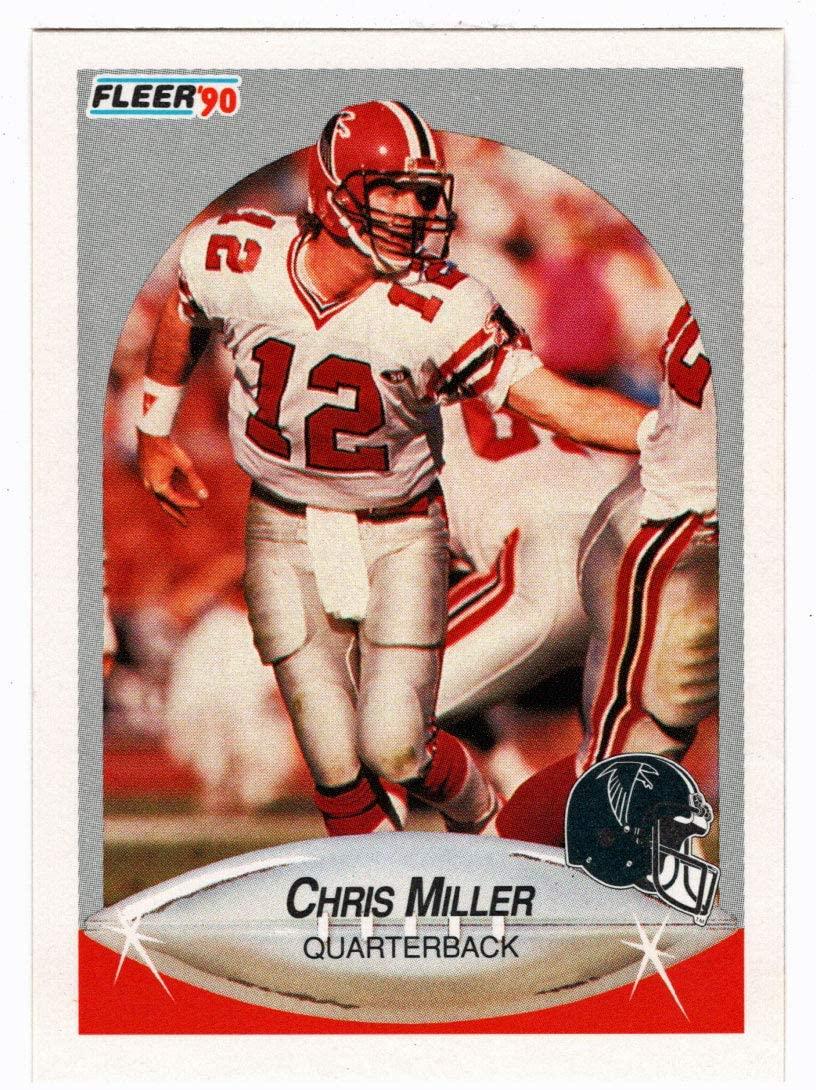 Chris Miller - Atlanta Falcons (Football Card) 1990 Fleer # 381 Mint