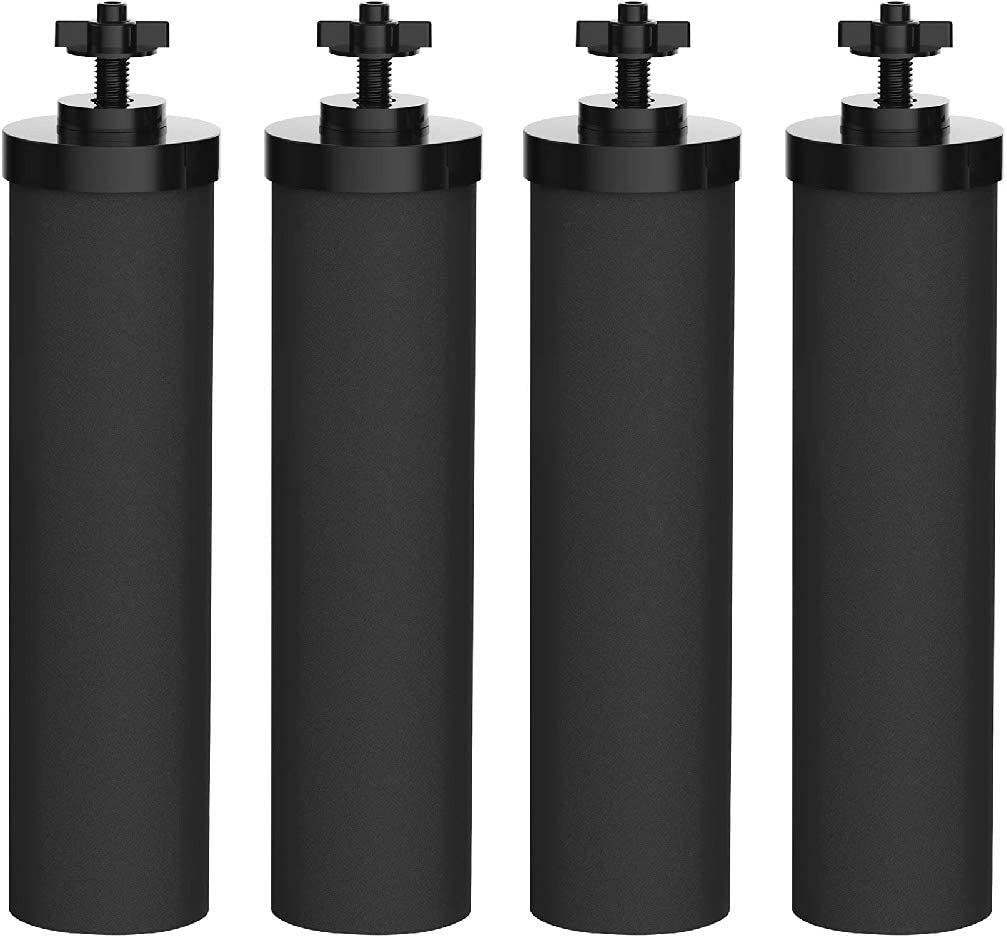 Nispira Premium Water Filter Black Element Cartridge Compatible with Berkey Countertop Water Purification System. Compared to Part BB9. 4 Filters