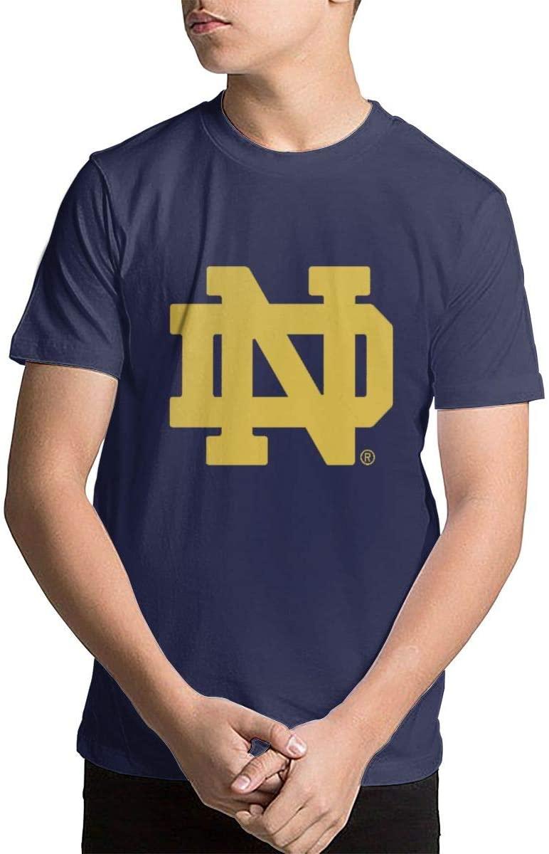 Children Boys and Girls University of Notre Dame Nd Logo Crewneck T-Shirt Advanced T-Shirts Tee