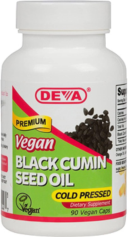 Deva Nutrition Black Cumin Seed Oil Veg Capsules, 90 Count by Deva Nutrition