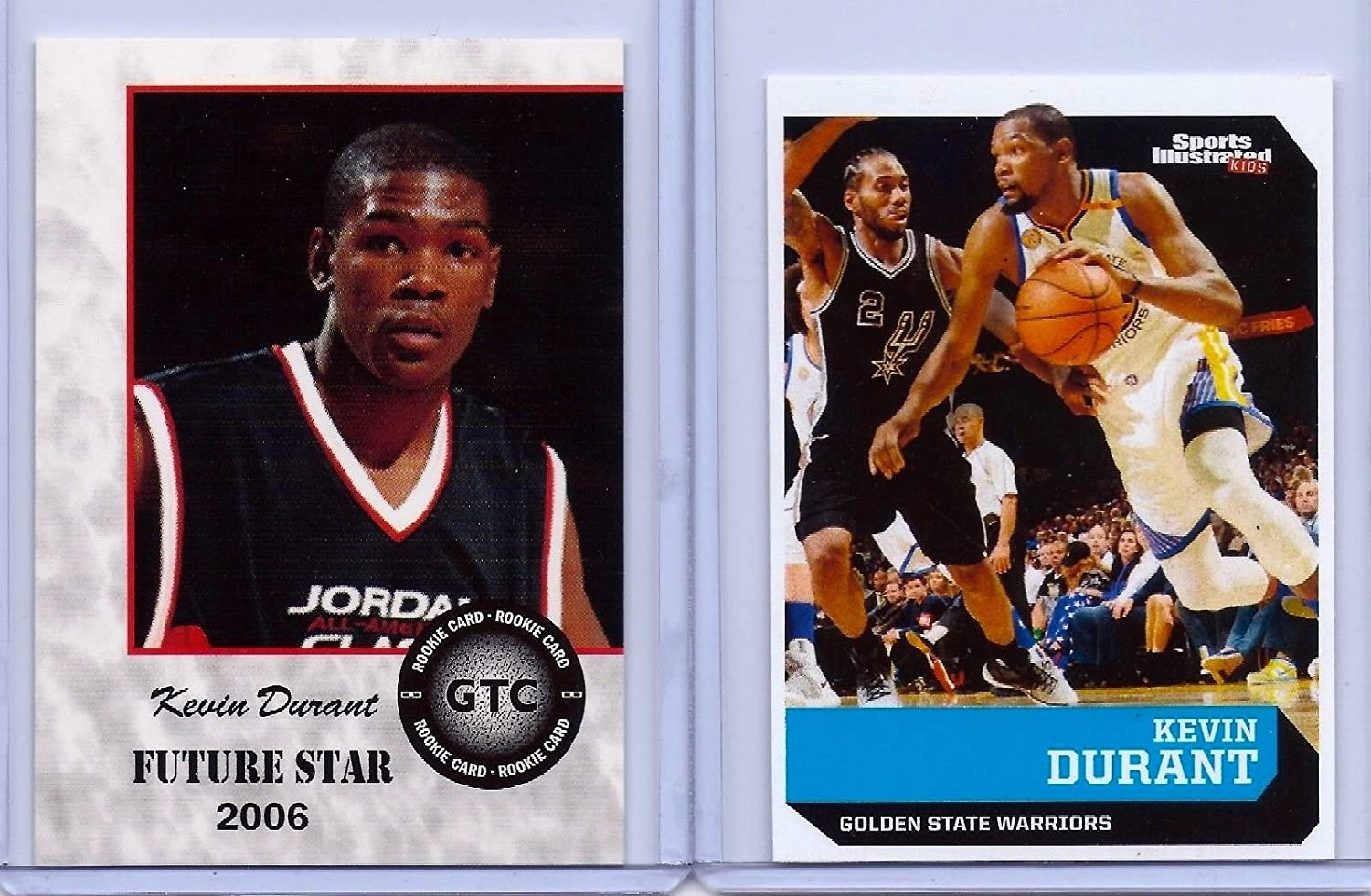 Sports Illustrated (2) KEVIN DURANT 2006/2017 1ST EVER PRINTED ROOKIE CARD LOT!