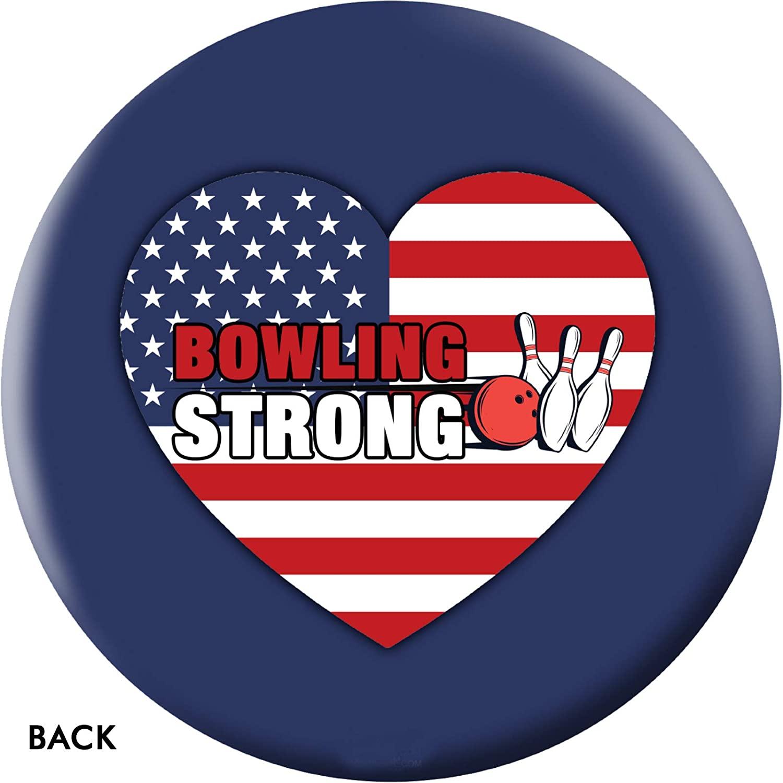 On The Ball Bowling Bowling Strong USA Heart Bowling Ball