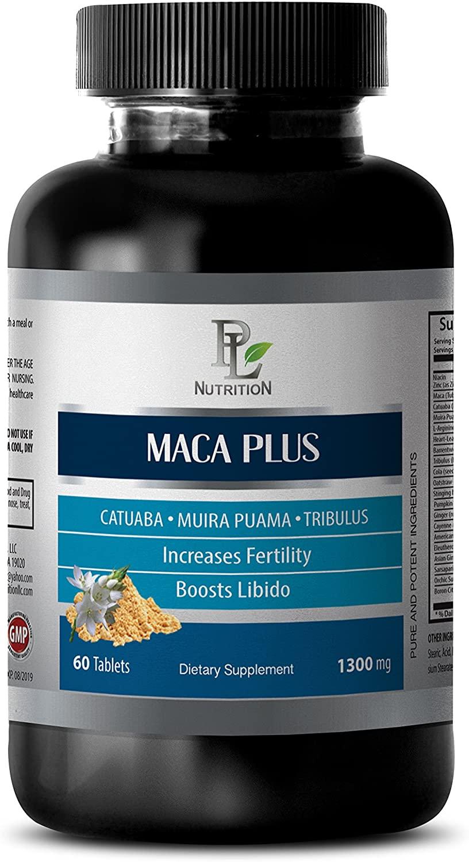 Libido Sexual - MACA Plus - Maca Supplement - 1 Bottle 60 Tablets