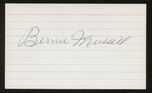 Bernie Mussill autographed 3x5 index card A1687