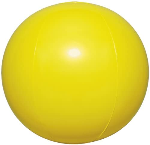 Igarashi Inflatable Beach Ball Pearl Yellow 50CM (Designed in Japan)