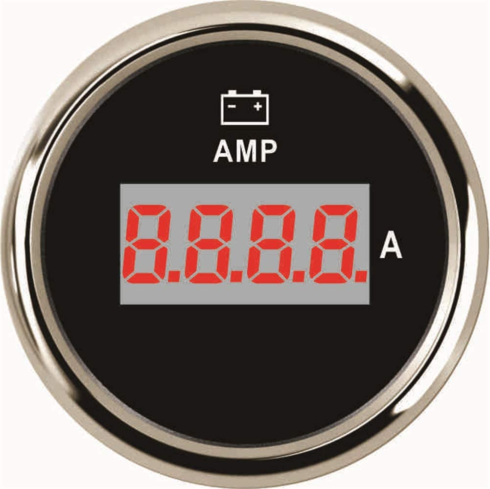 Kadir Koc 1pc Auto Digital Amperemeter Modified 52mm 0-150A Amp Gauges Current Meter 9-32v with Sensor - Black
