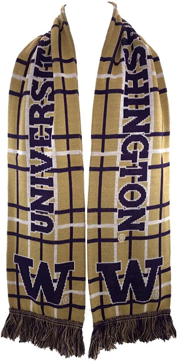 Ruffneck Scarves UW Washington Huskies Official NCAA Scarf - Tartan Scarf