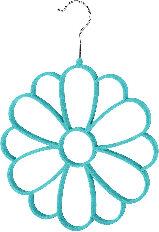Whitmor Flocked Flower Scarf Hanger
