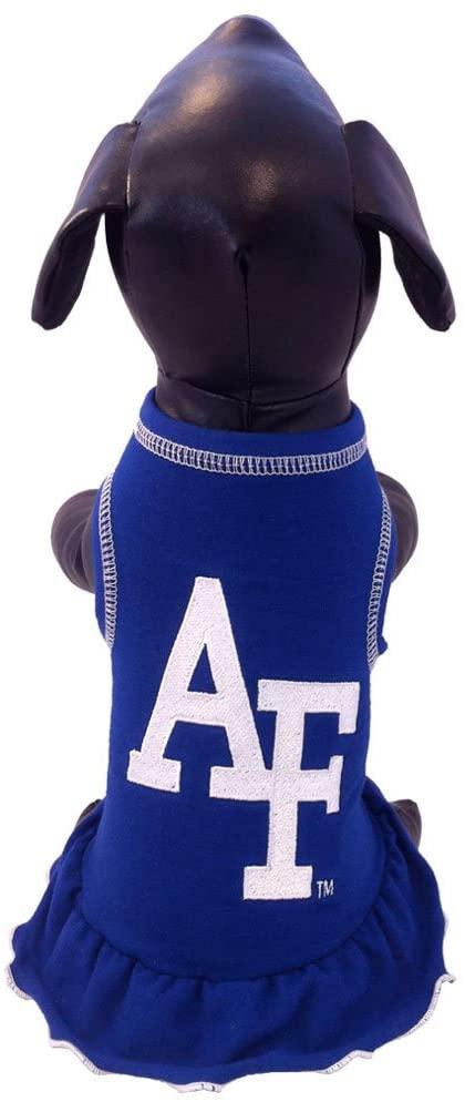 NCAA Air Force Falcons Cheerleader Dog Dress, Medium