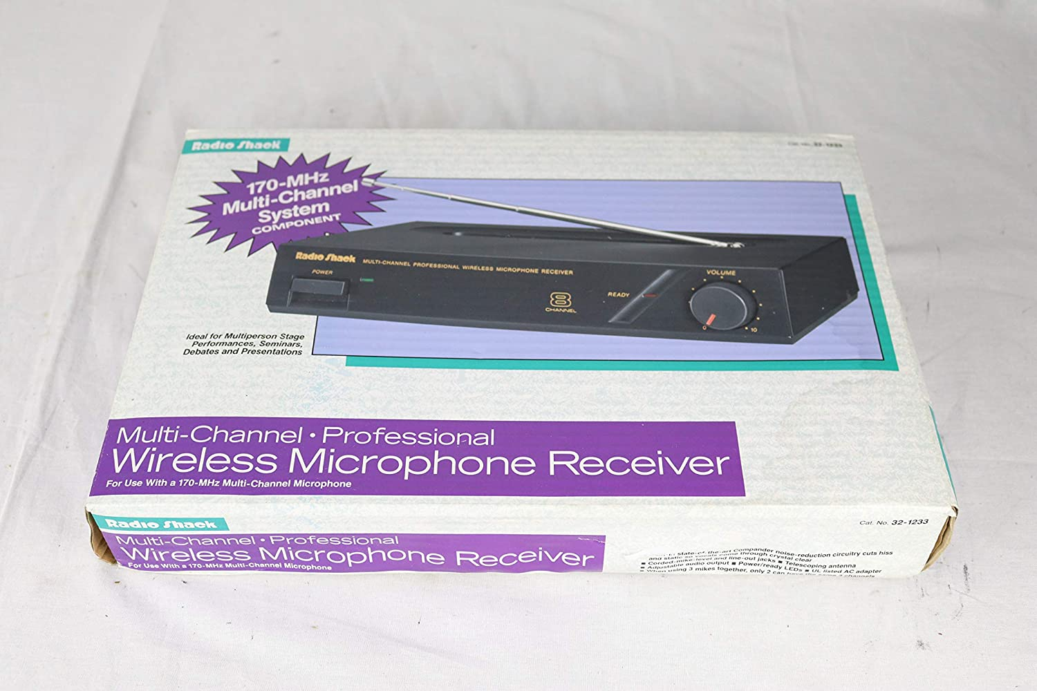 RADIO SHACK 32-1233 MULTI-CHANNEL PROFESSIONAL WIRELESS MICROPHONE RECEIVER T13770