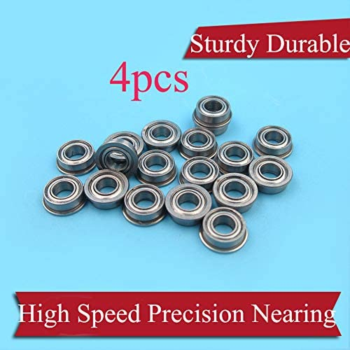 Parts & Accessories 4PCS Metal Flange Bearing Inner Dia 4/4.76mm Soft Shaft s High Speed Precision Rat Tail for RC Boat Parts - (Color: 4x8x3mm Normal)