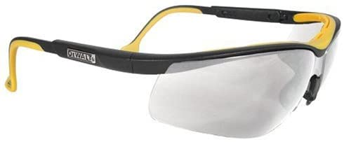 Dewalt DPG55-1C Dual Comfort Clear High Performance Protective Safety Glasses with Dual-Injected Rubber Frame and Temples