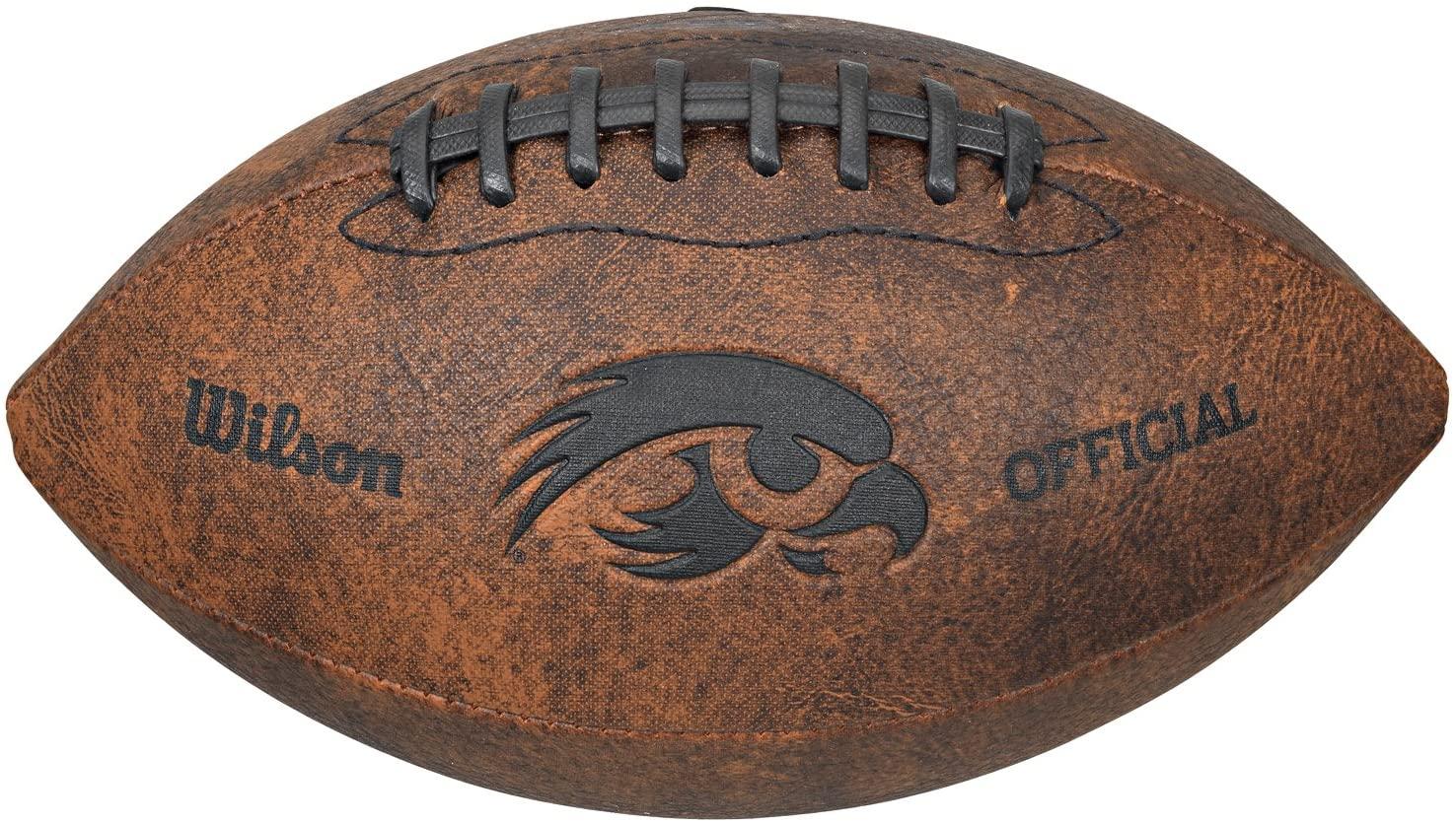 NCAA Iowa Hawkeyes Vintage Throwback Football, 9-inches